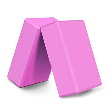 DLYDSS Yoga Bloques (2 Paquete), Yoga Block Espuma Eva ...