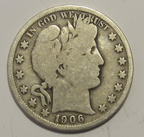 1906 O Barber Half Dollar 50c Very Good