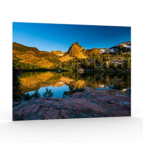 - Utah Nature Photography 11x14 Inch Unframed Nature Poster Print The Shores Lake Blanche at Sunset