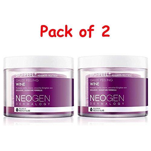 Pack-of-2-Neogen-Dermalogy-Bio-Peel-Gauze-Peeling-Wine-200ml-30-Count-FREE-GIFT