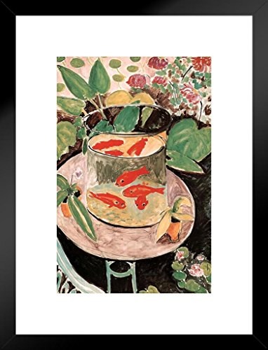 Poster Foundry Henri Matisse Goldfish with Border Matted Framed Wall Art Print 20x26 - Art Wall Framed Border
