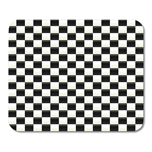 Nakamela Mouse Pads Chequered Black Checker Illuminated Checkered White Flag Floor Mouse mats 9.5