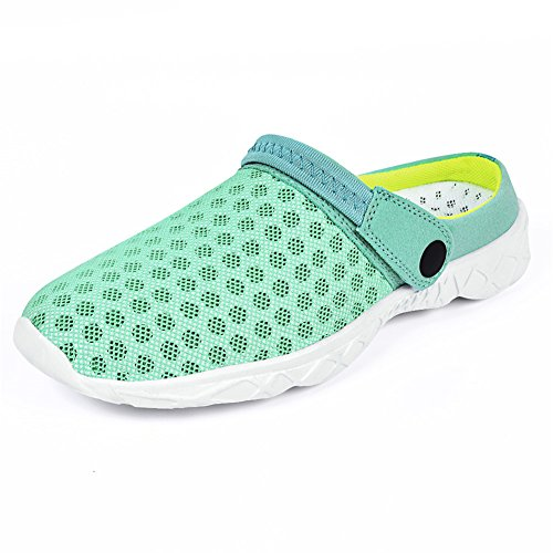 Galleon - QANSI Women s Classic Summer Breathable Slip On Nursing Garden  Clogs Shoes Beach Sandals Light Blue US 6.5 Women 1c9188c4746a