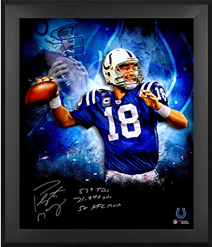 Peyton Manning Indianapolis Colts Framed Autographed 20