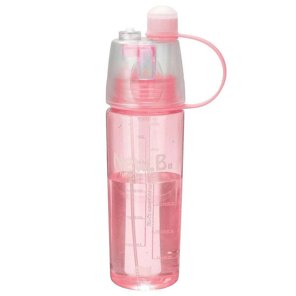 Tuelip New B Portable for Outdoor Cycling Camping Hiking Spray with Water Bottle 600Ml - Pink