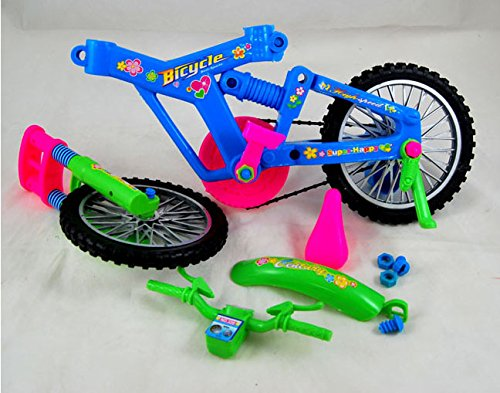 Alfto DIY Large Simulation Removable Bike Educational Toys for Children