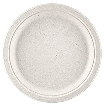 "100% compostable and biodegradable, 9"" DISPOSABLE PLATES - (125 COUNT), made from bamboo & sugar cane , excellent strength"