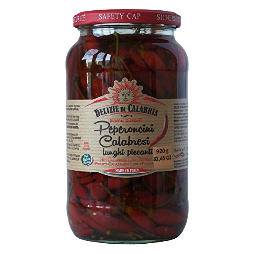 Italian Hot Calabrian Chili Pepper in Oil 32.4 oz by Alma Gourmet