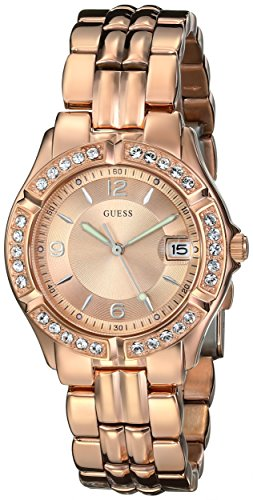 GUESS  Rose Gold-Tone Bracelet Watch with Date Feature. Color: Rose Gold-Tone (Model: U11069L1)