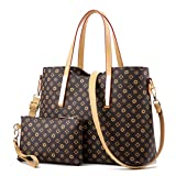 ZUNIYAMAMA Waterproof Scratch Resistant Synthetic Leather Lady Top Handle Handbags Set for Women Purses Shoulder Bag Fashion Tote Bags Casual Daypack