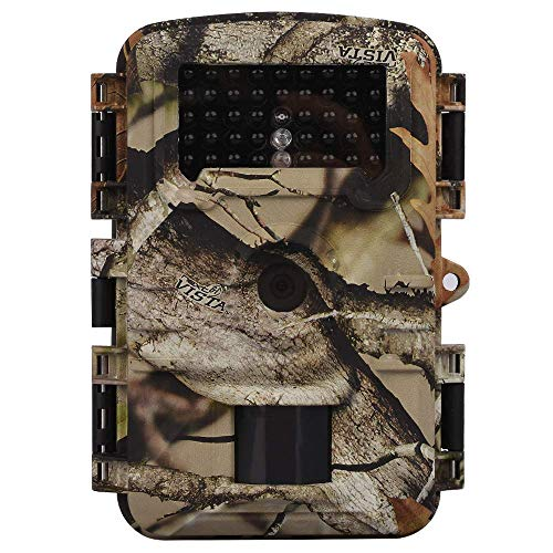 """Trail Camera Hunting Game Camera, 2019 Newest Motion Activated Night Vision up to 65ft, 12MP 1080P Full HD 2.4""""LCD Waterproof Wildlife Scouting Monitoring Home Security Camera"""