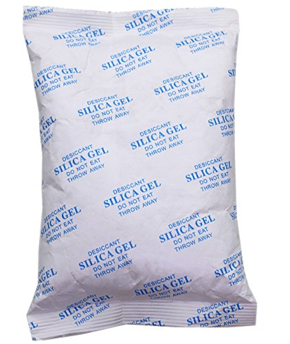 LotFancy 500 Gram Silica Gel Desiccant Pack Dehumidifier, Safe Odorless Non-toxic Moisture Absorbing Drying Packet