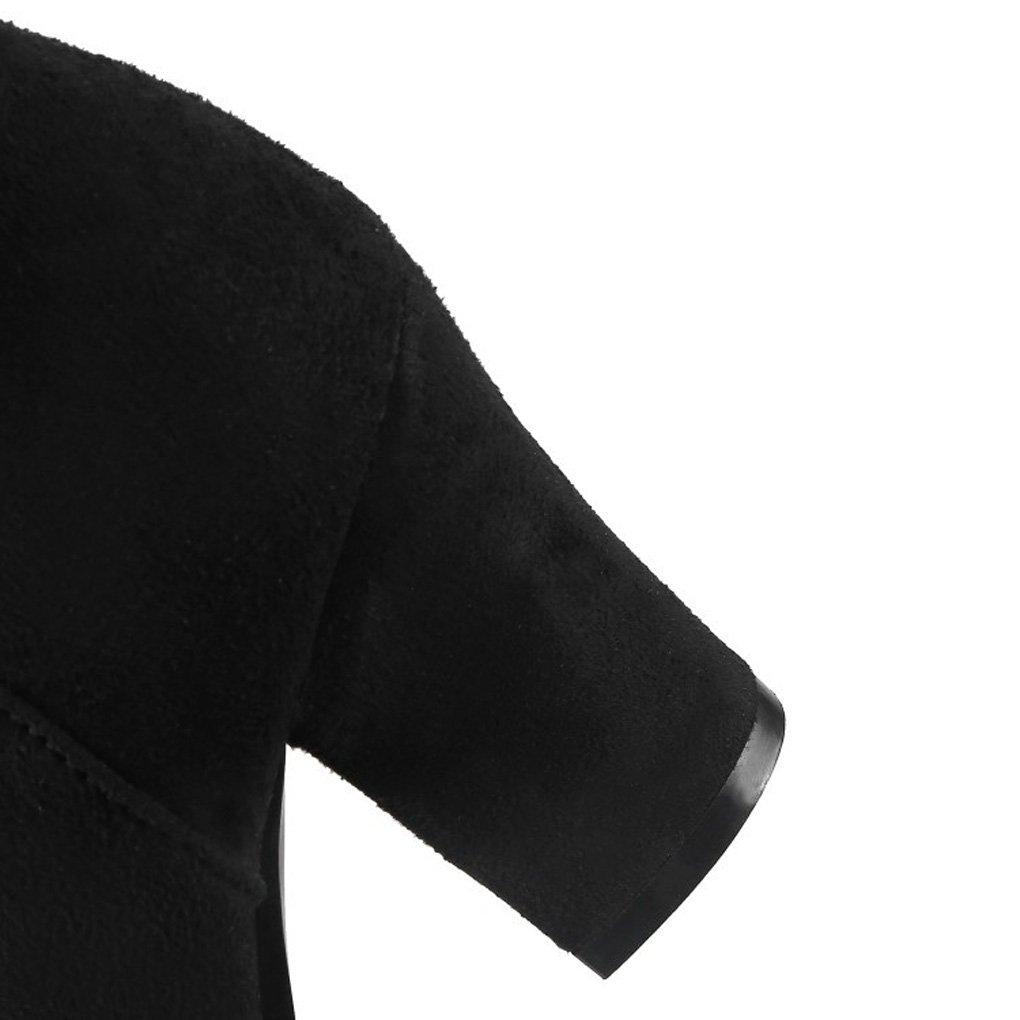 QQNVXUE Automne et et et Hiver rétro à Talons épais Talon épais Martin Bottes Courtes Confortable Chaud (Couleur : Noir, Taille : 37)B07K1GGTSSParent c577af