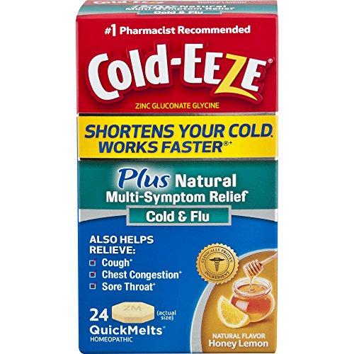 Cold-EEZE Plus Natural Multi-Symptom Relief QuickMelts, 24 Count