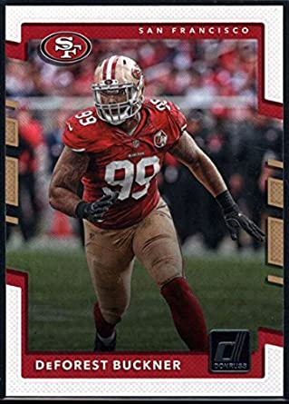 7b371690398 Amazon.com  Football NFL 2017 Donruss  54 DeForest Buckner 49ers ...