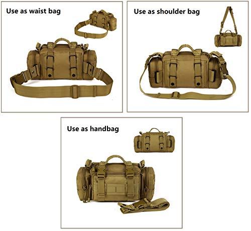 5db0bcfd885 HYOUSANN 4-Way Waist Pack Tactical Fanny Pack Molle Fishing Gear Bag black