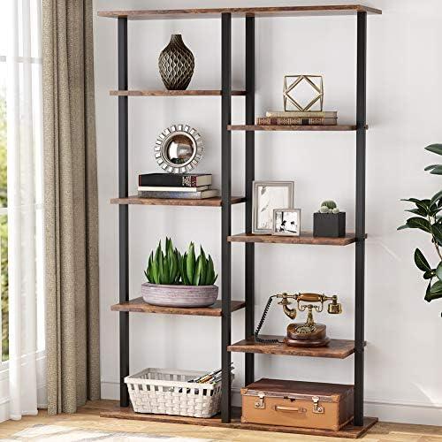 Tribesigns 5-Tier Bookshelf Industrial Bookcase