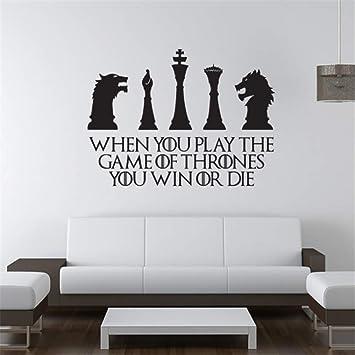 pegatinas de pared infantiles Cuando juegas al juego de tronos, ganas o mueres en la sala de estar del dormitorio.: Amazon.es: Bricolaje y herramientas