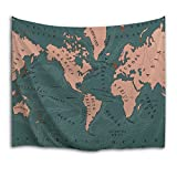 51 chart - QIYI Home Wall Hanging Nature Art Fabric Tapestry For Dorm Room,Bedroom,Living Room Decorations-60 L x 51