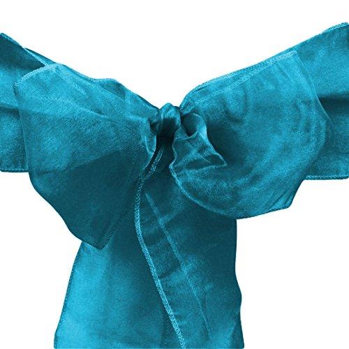 LinenTablecloth Organza Sash (10-Piece) Caribbean