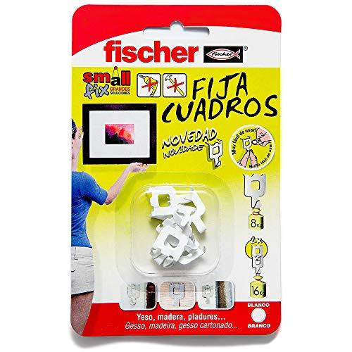 FISCHER 522206 fija cuadros sin agujeros, Blanco