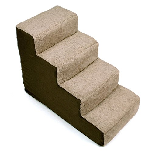 Up Pup 4-Step Dog Stairs, 28 IN, Brown/Tan by Upp Dog