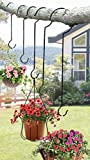CTD Store Multipurpose Outdoor Hanger 6 Different Size Hooks; Plant, Wind chime, Bird Feeder, Christmas Decoration Much More Fast And Easy