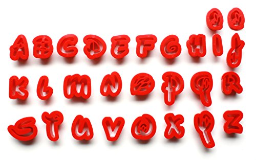 Disney Font Alphabet | Lowercase Letters | Fondant Cake Decorating Set or Cookie Cutters (Cookie Alphabet Disney Cutters)