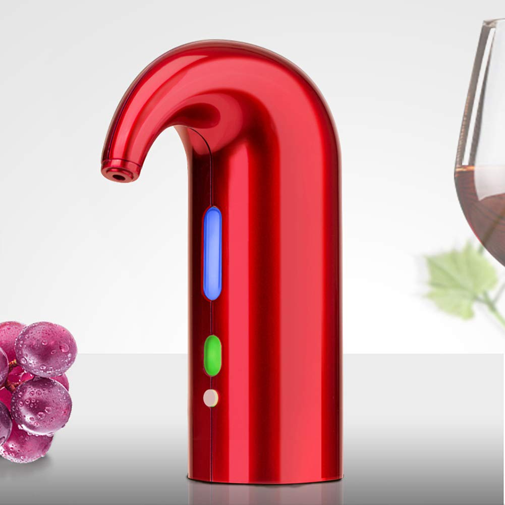 Carthree Electric Wine Aereator Luxury Wine Dispenser with Instant Luxury One Touch Boosts The Taste of Red and White Wine,FDA and RoHS Approved