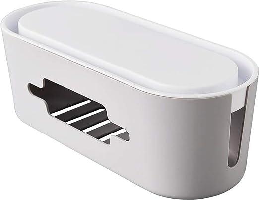 Amycute Caja organizadora de cables eléctricos, línea de alimentación/cargador línea USB Box de gestión de cables, cable Box para ocultar el cable: Amazon.es: Hogar