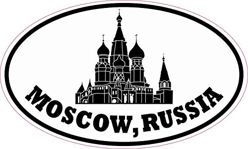 5X3 Oval Saint Basil Cathedral Moscow Russia Sticker Bumper Stickers Cup Decal