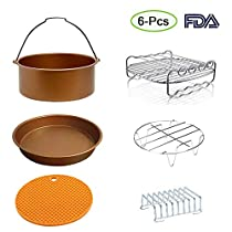 8 inch XL Air Fryer Accessories Set of 6 for Phillips