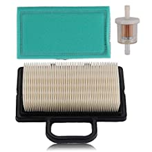 Alibrelo 792101 5408K Air Filter for Briggs & Stratton 405577 407777 40G777 445577 441777 16-27HP Intek V-Twin Engines Replace 792101 5408 5408H 672772 671231 273638S 273638 with Fuel Filter