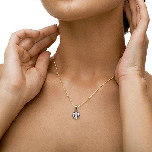 Or blanc 18K 0,2CT TW Round-cut-diamond (IJ | SI) Pendentif