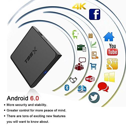 Zenoplige T95X Amlogic S905X Android 6.0 Marshmallow Smart Android TV Box Quad Core Mali 450 1GB/8GB Wifi 2.4G 10/100M LAN 4K 3D 64 Bits