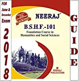 BSHF101-Foundation Course In Humanities & Social Sciences (Ignou Help Book For BSHF-101 In English Medium)