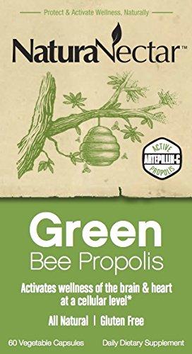 NaturaNectar Green Bee Propolis, Vegetable Capsules, 60 Count