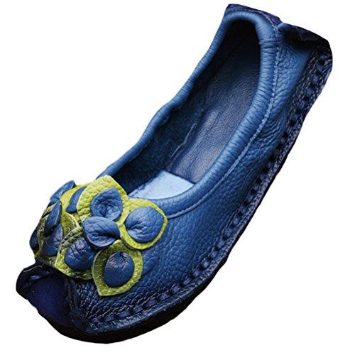 4 Scarpe blu Autunno Estate Le Stile Pelle Fiore Vogstyle In Piatte Donna Per Primavera Nuove 5xqZ6O
