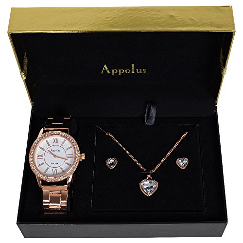 Appolus Mother's Day Gifts - Watch Necklace Earrings set - Birthday Gifts For Women Mom Girlfriend Wife Anniversary Graduation - The Perfect Gif