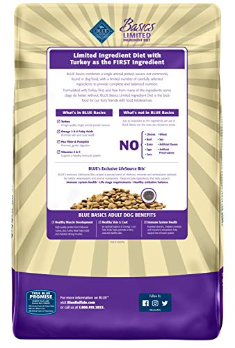 Blue Buffalo Basics Dry Dog Food, Turkey and Potato Recipe, 24-Pound Bag by BLUE Basics (Image #2)