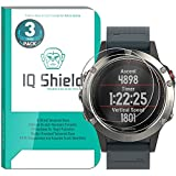 (US) Garmin Fenix 5 Screen Protector (3-Pack), IQ Shield Tempered Ballistic Glass Screen Protector for Garmin Fenix 5 99.9% Transparent HD and Shatter-Proof Shield
