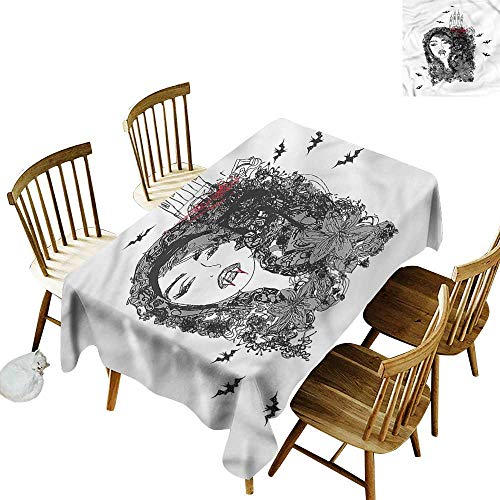 - Tim1Beve Waterproof Table Cover Vampire Woman Castle Flowers Party Decorations Table Cover Cloth 54