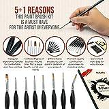 DUGATO Fine Detail Paint Brush Set, 8pcs Tiny
