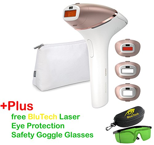 Philips Lumea New BRI956 Prestige IPL Hair Removal for Body, Face and Bikini - 2017 version+Pluse Free BlueTech Laser Eye Protection Safety Goggle Glasses - Free Expedited worldwide shipping