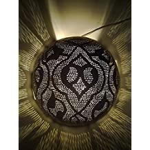 BR376Y Antique Gold Wall Decor Round Half Ball Mosaic Moroccan Brass Sconce