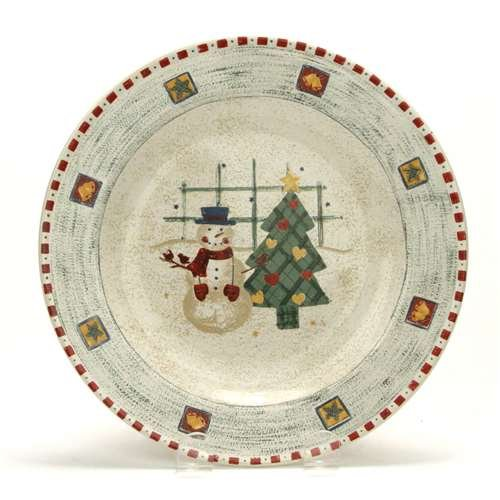 Gibson Snowman (Snowman & Tree by Gibson, Stoneware Salad Plate)