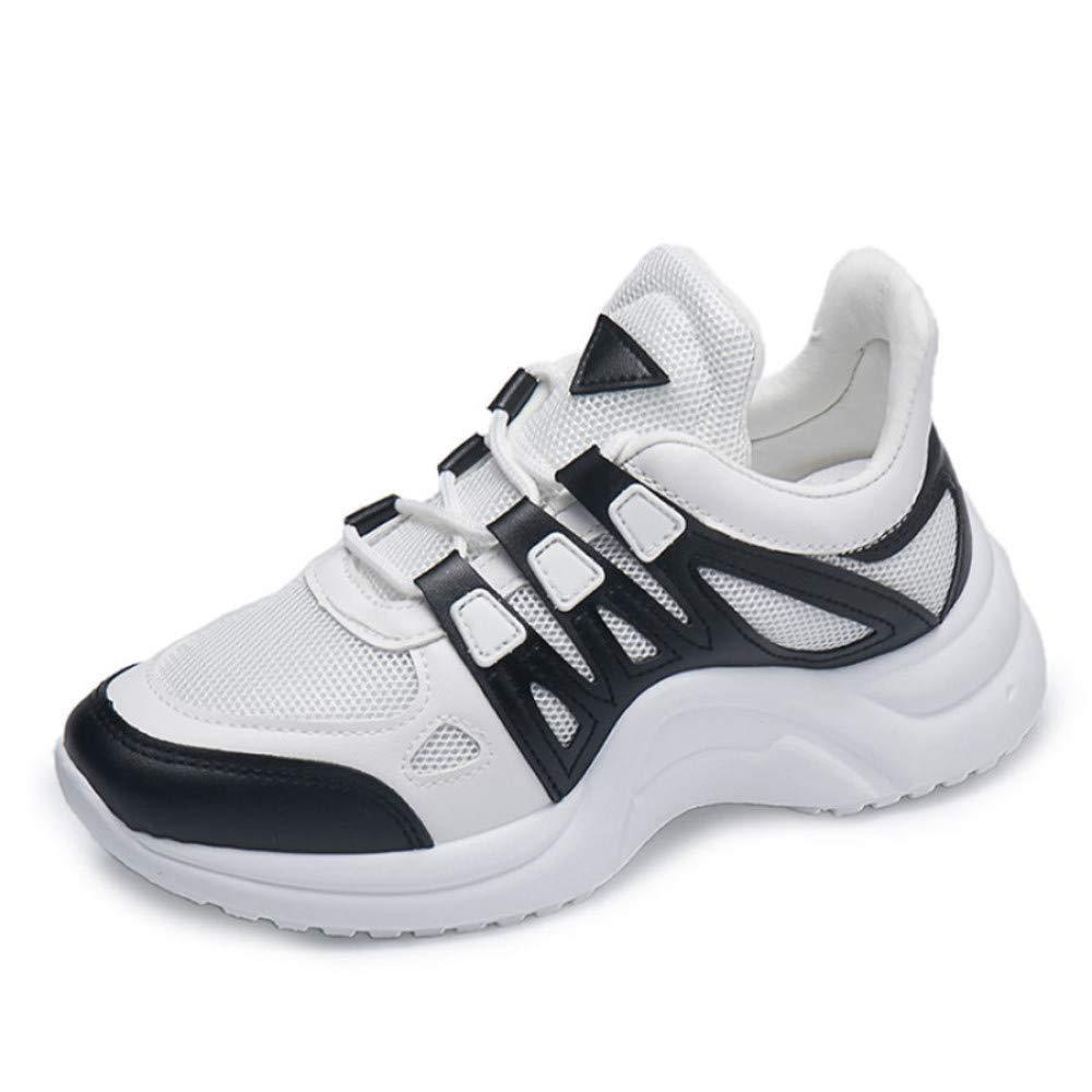 GUNAINDMX Mode Frauen Turnschuhe Vulcanize Schuhe Frau Casual Lace Up Wedges Schuhe Damen Schuhe Atmungsaktives Mesh Casual Frau Plateauschuhe a288d9