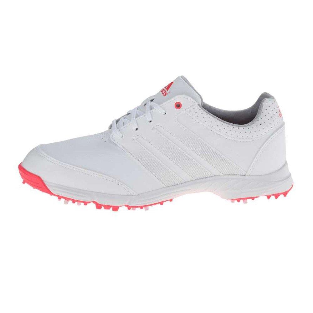 adidas Women's Response Light Golf Shoe, White/Silver Metallic/Flash Red, 9.5 M US