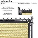 BOUYA Beige Privacy Fence Screen 8' x 50' Heavy