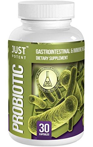 Supplément probiotique Tout Puissant :: 35 milliards UFC :: 8 souches :: :: Longue Conservation Survit 30 Vegetarian Capsules de l'estomac acide pour 1 mois d'approvisionnement